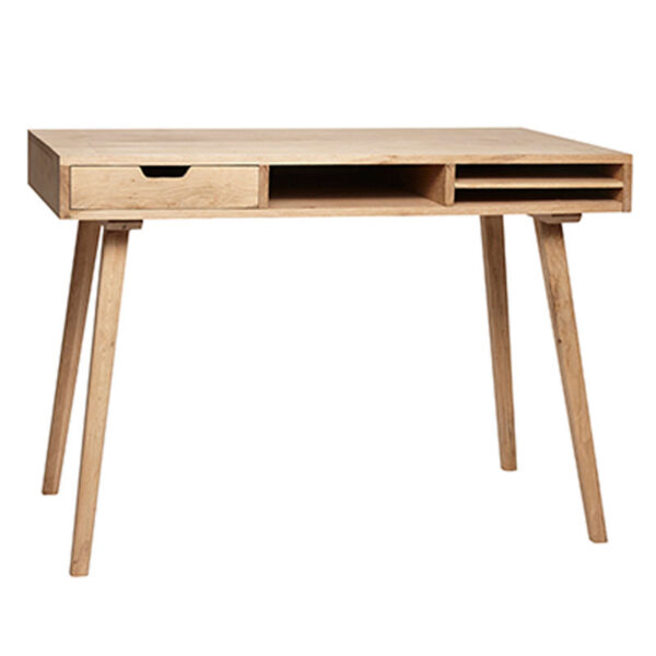 Oak Desk with Compartments by Hubch