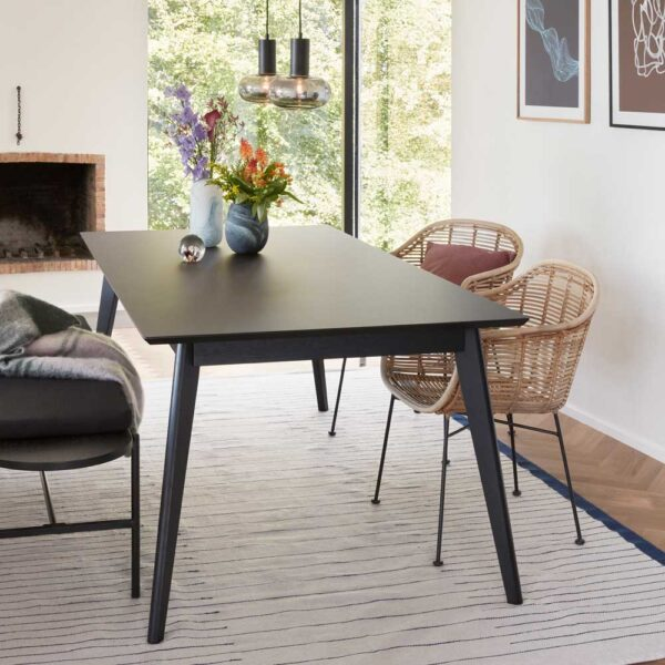 Oak dining Table Black by Hubsch