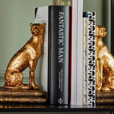 gold Panther bookends