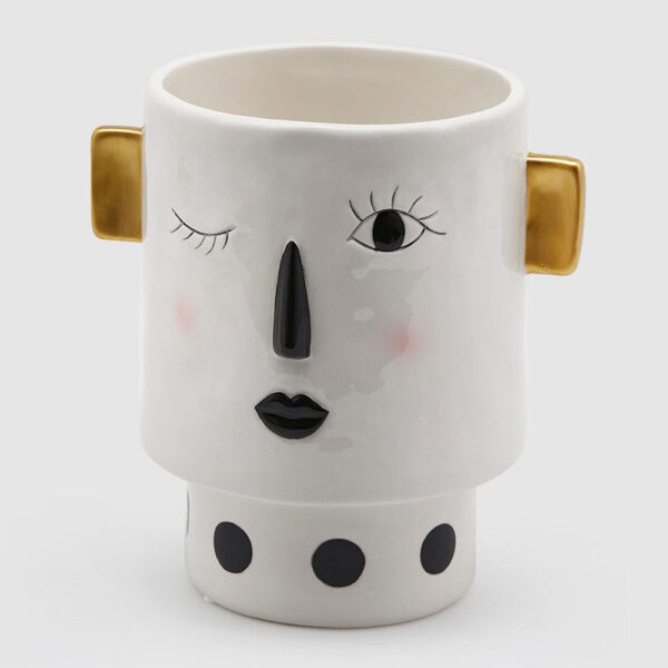 People face vase wink