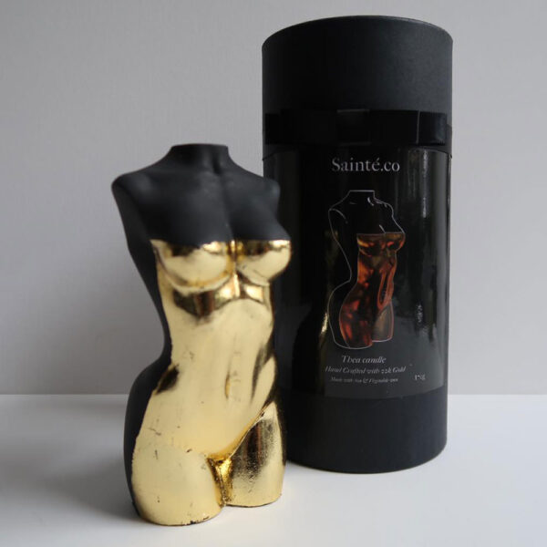 Thea Goddess Truffle Gold Candle by Sainte