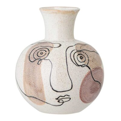 Vase face stoneware by Bloomingville