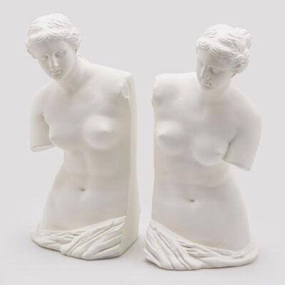 White Roman Women Bookend