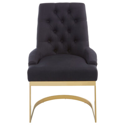 amelie black dining chair