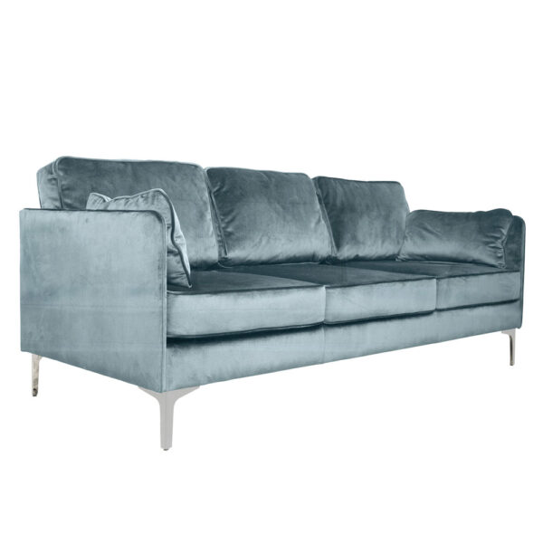 blue petrol velvet 3 seater sofa by Jakobdals