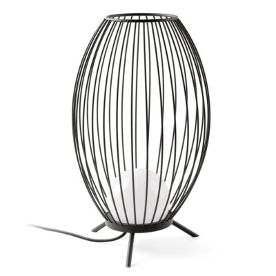 cage LED dark grey portable lamp by Faro