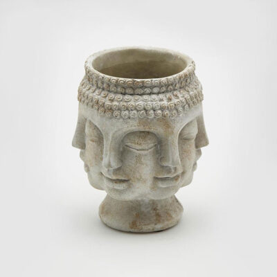 cement buddha vase small