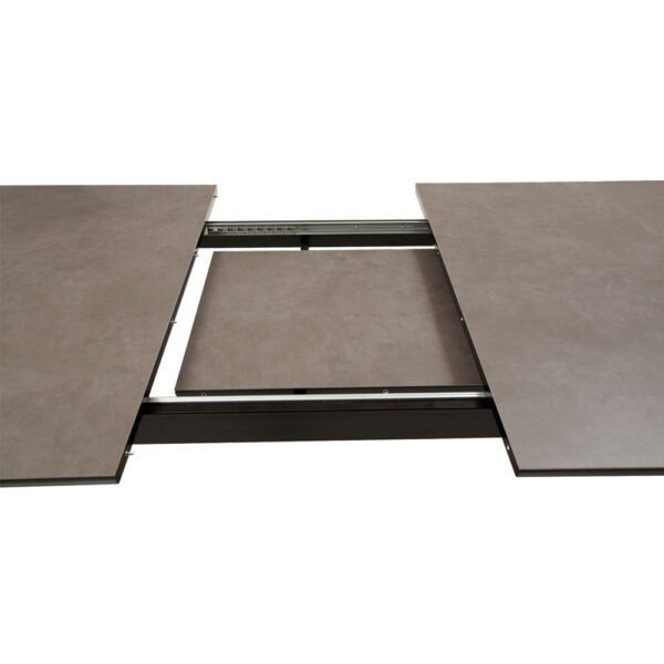 cibus table grey ceramic top with black stained ash legs