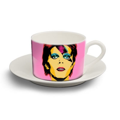 david personalised cup and saucer by wallace elizabeth Artwow