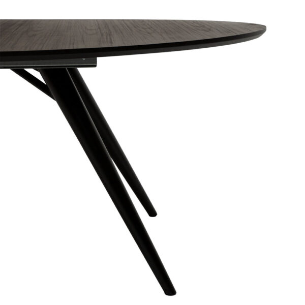 eclipse table grey stained ash with black metal legs