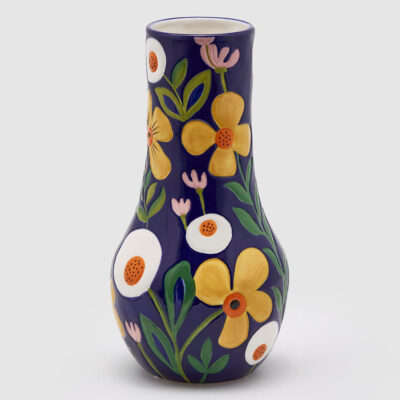 flower vase tall black