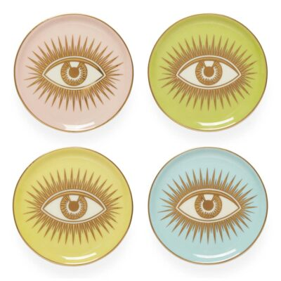 le wink set of 4 coasters by Jonathan Adler