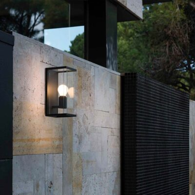 nala dark grey wall lamp by Faro