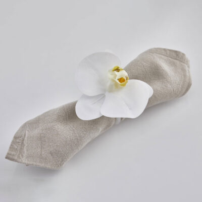 orchid napkin ring