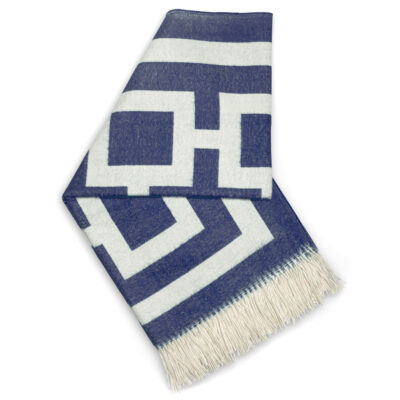 nixon baby alpaca throw navy by Jonathan Adler