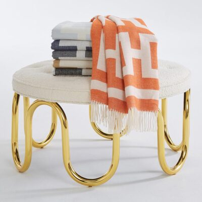 nixon baby alpaca throw orange by Jonathan Adler