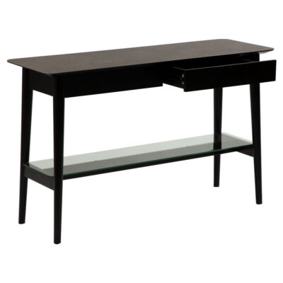 passo console table grey ceramic with black stained ash legs