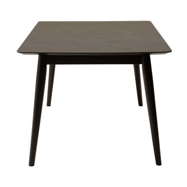 passo table grey ceramics table top with black stained ash legs