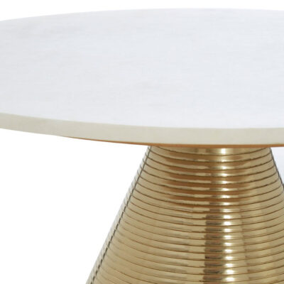 rosalie white marble top side table