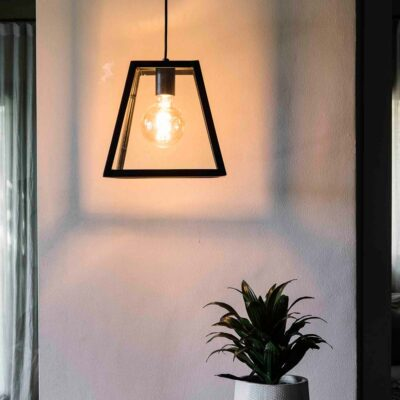 rose black pendant lamp by Faro