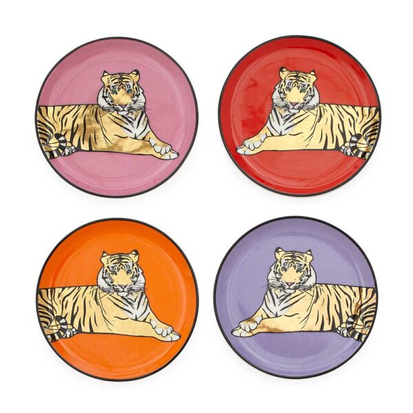 safari set fo 4 coasters with tigers by Jonathan Adler