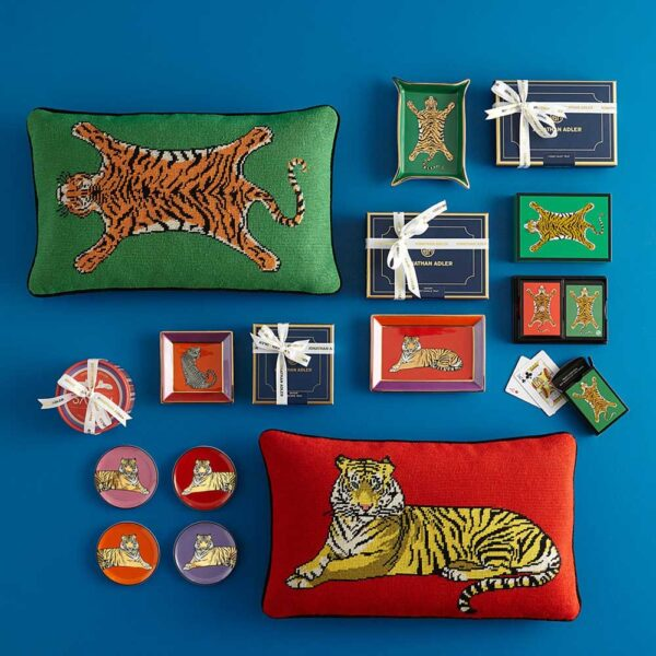 safari rectangle tray with tiger by Jonathan Adler