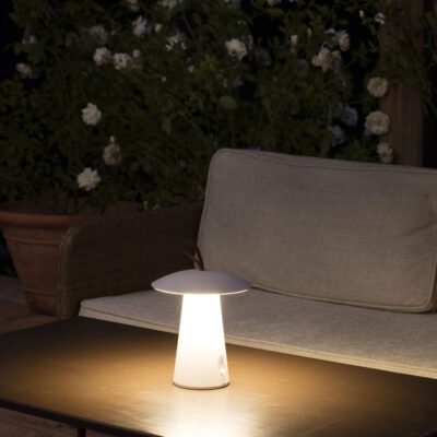 task LED white portable lamp by Faro