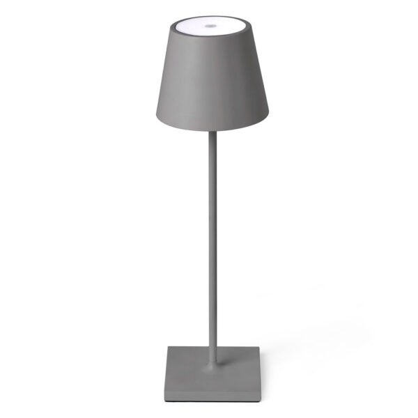 toc LED grey portable lamp by Faro
