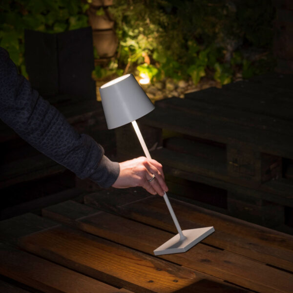 toc LED white portable lamp by Faro