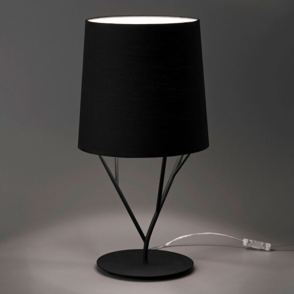 tree black table lamp by faro