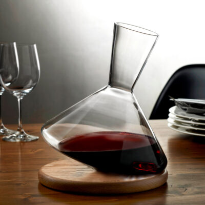 Balance Wine Decanter with wooden base by Nude