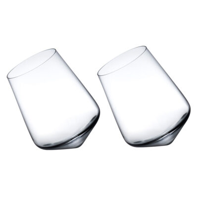 Balance set of 2 Wine Glasses by Nude