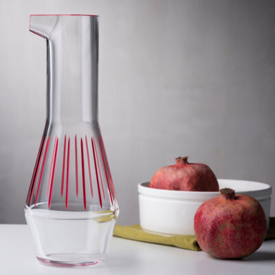 Beak Carafe Iris Apfel Collection Red Striped by Nude