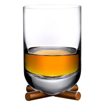 Camp DOF Whisky Glass with brass base by Nude
