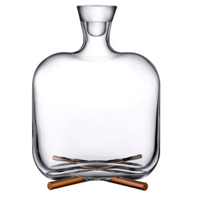 Camp Whisky Bottle with brass base by Nude