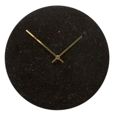 Clock Marble black gold by Hubsch