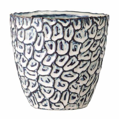 Flowerpot blue stoneware by Bloomingville