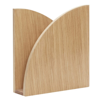 Magazine holder for wall oak by Hubsch