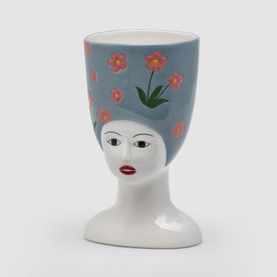 Woman Bust Ceramic Vase