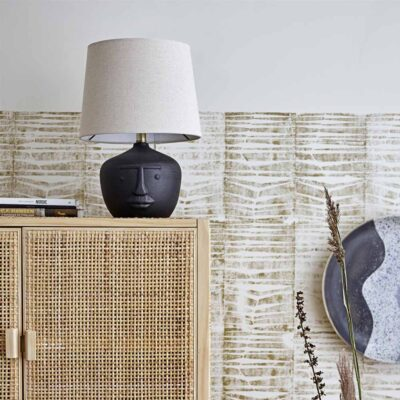 Matheo table lamp black terracotta by Bloomingville