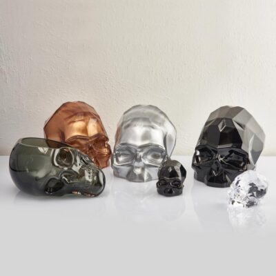 Memento Mori Faceted Skull Silver L by Nude