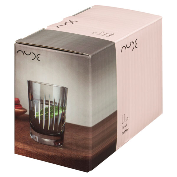 Parrot set of 2 water glasses Smoke by Nude