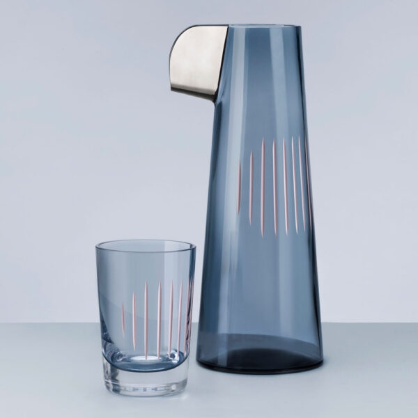 Parrot Water Carafe Steel blue by Nude