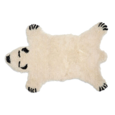 Rug Fluffy Bear White by Classic Collection