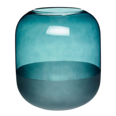 vase Glass Frosted Green by Hubsch