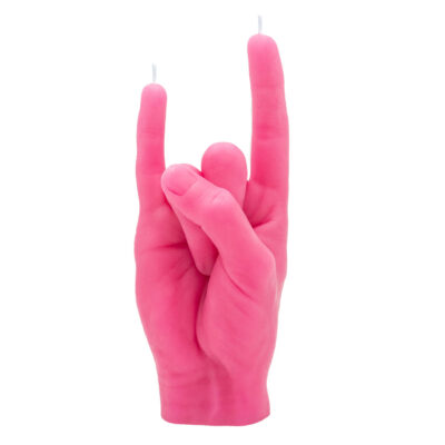 You Rock Pink hand candle