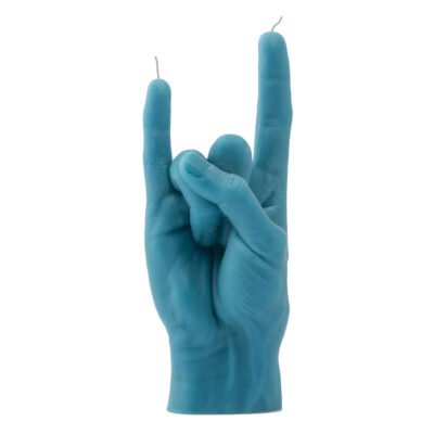 You Rock Blue hand candle