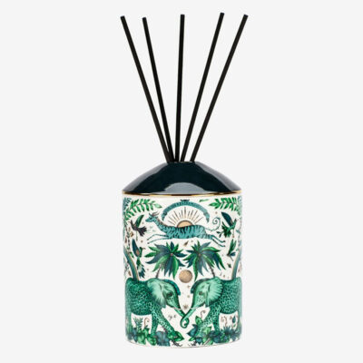 Zambezi Green Elephants Diffuser by Emma J Shipley