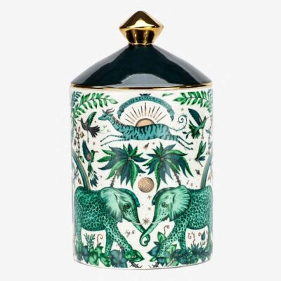 Zambezi green elephants Scented Candle by Emma J Shipley