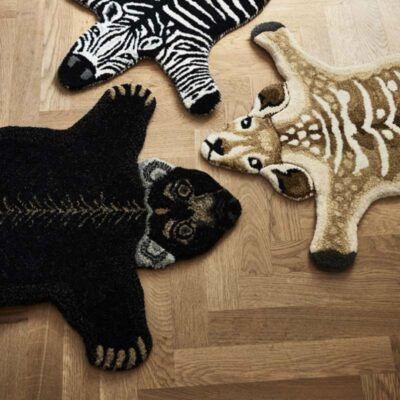 animal shaped rug bear black by Classic Collection